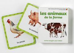 Cartes-imagier Mes toutes premières découvertes : Les animaux de la ferme