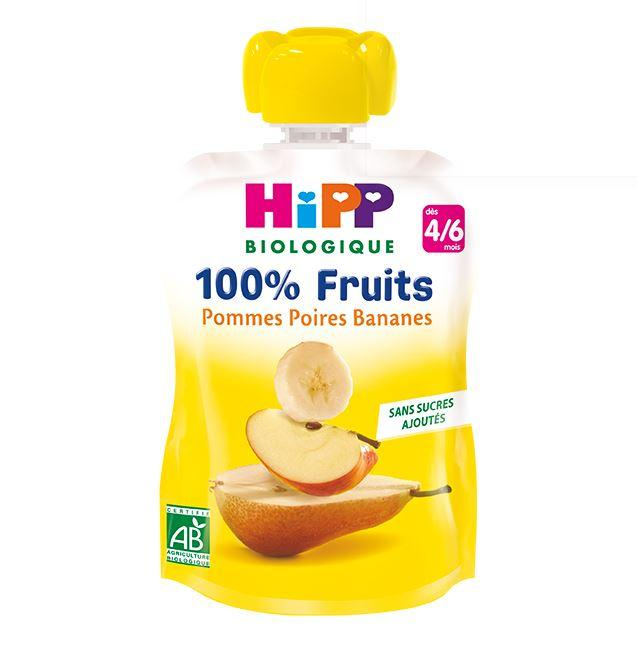 Gourde Pommes Poires Bananes - dès 4/6 mois