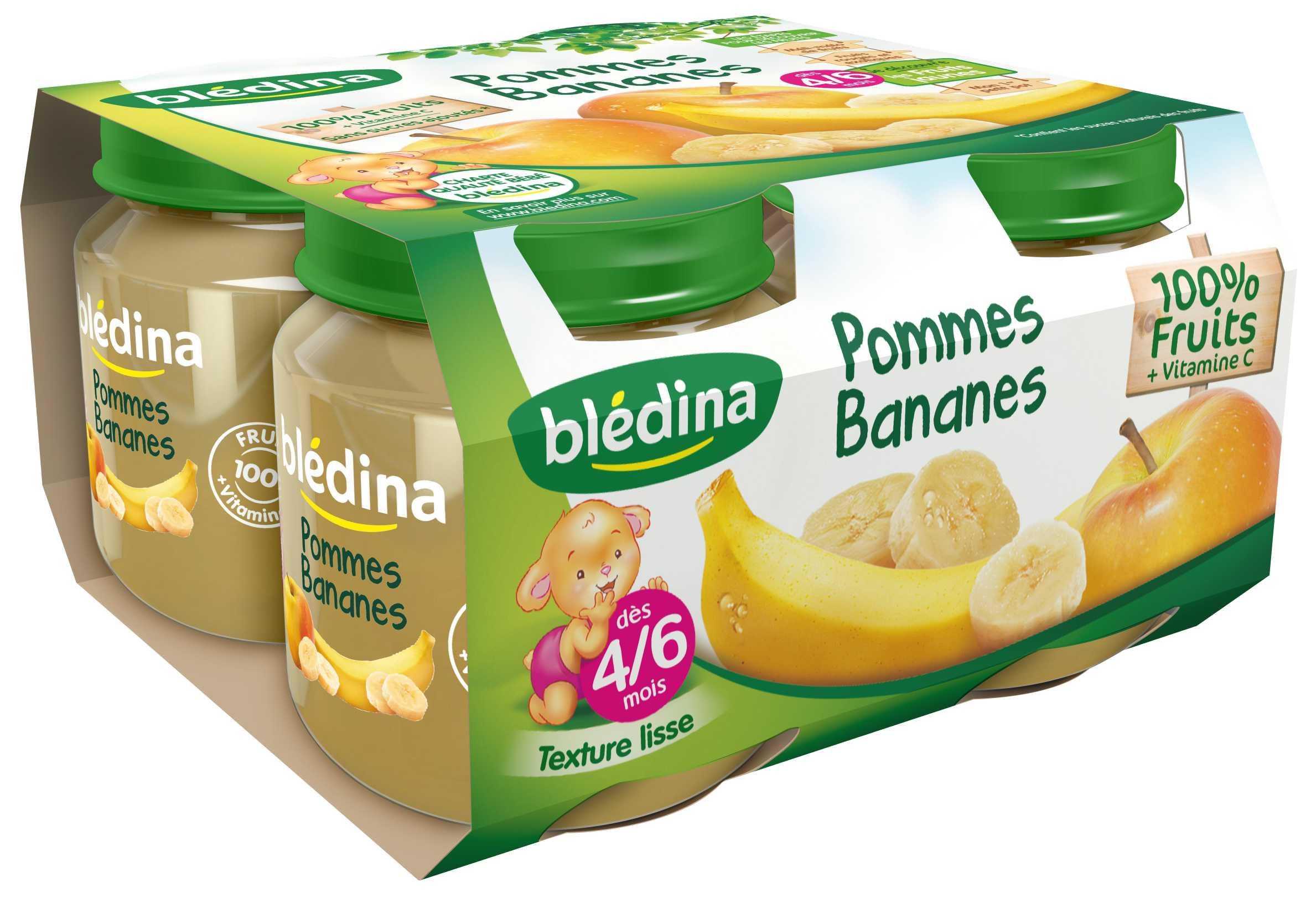 Pot Pommes Bananes 4x130g BLEDINA