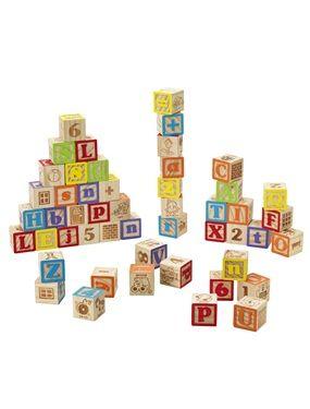 Jeu de 50 cubes en bois Natural Cuboland