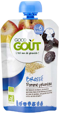 Good gourde Brassé pomme et pruneau