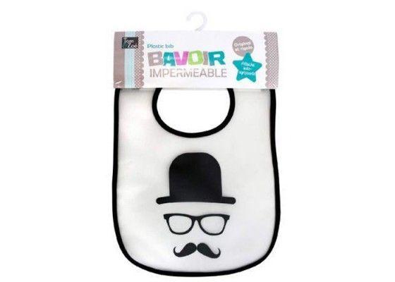 Bavoir imperméable Moustache TOM ET ZOE