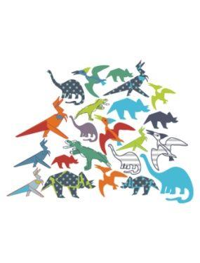 34 stickers dinosaures chambre garcon  VERTBAUDET