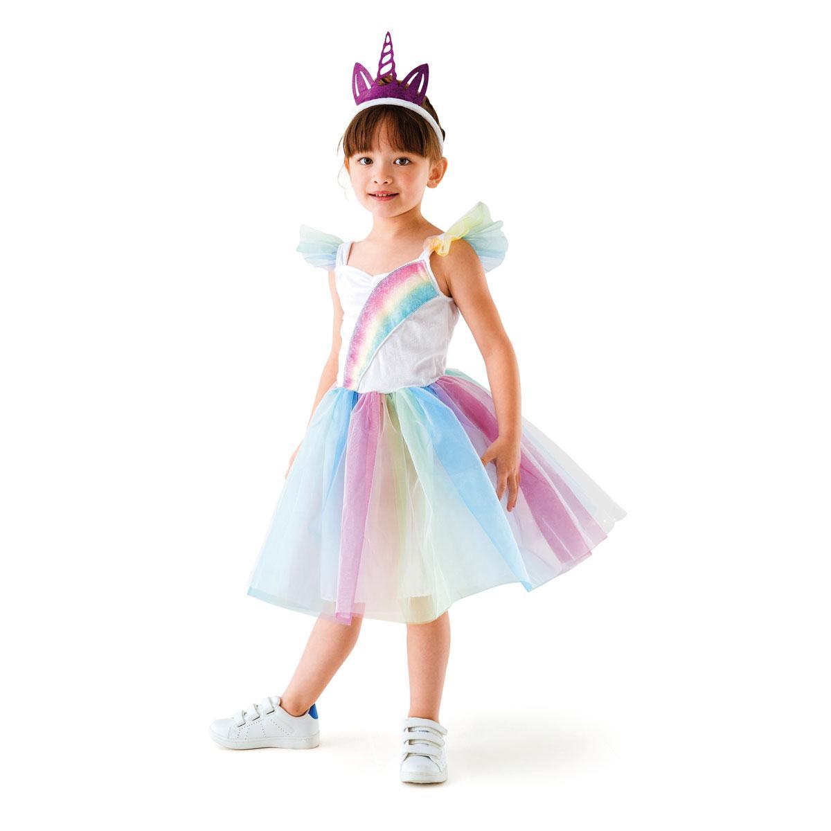 Robe princesse licorne 3-5 ans