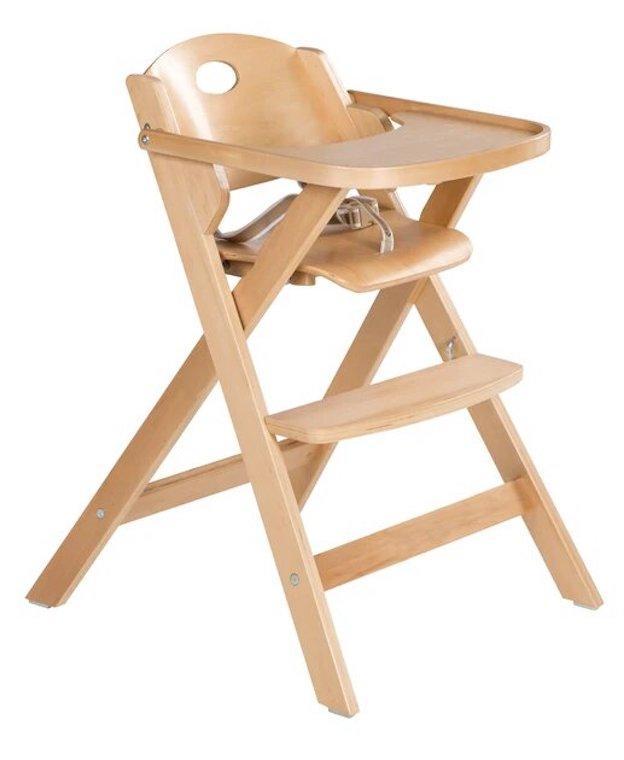 Chaise haute pliable en bois