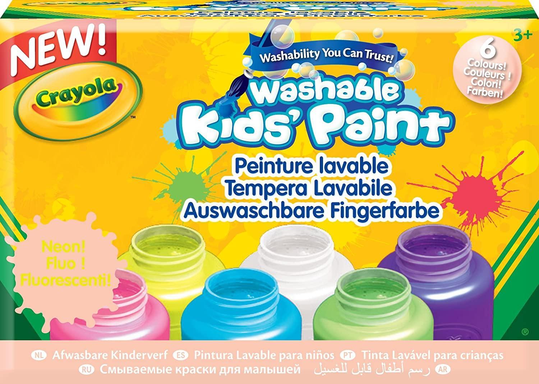 Peinture lavable kids 6 couleurs