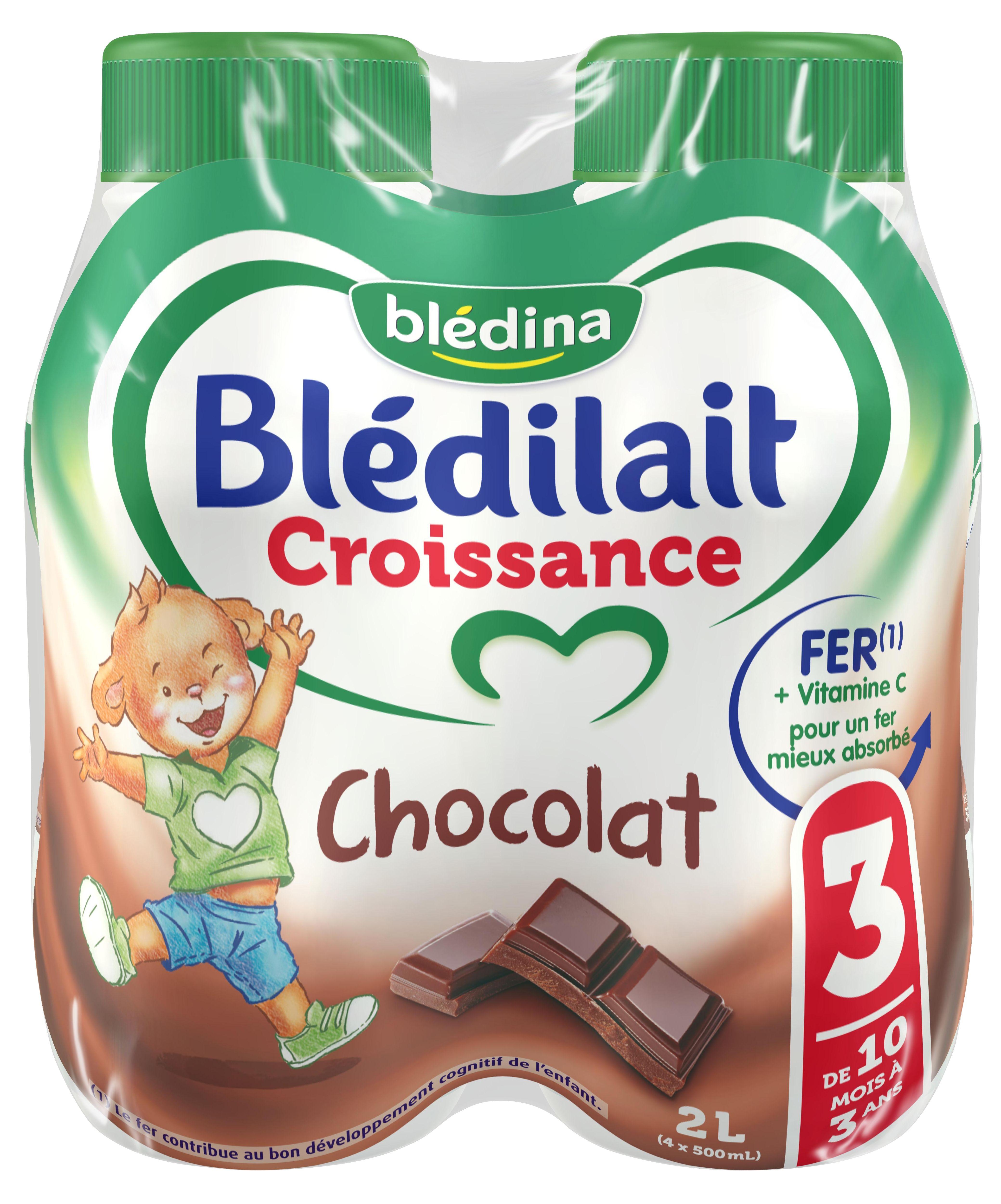 Lait Blédilait Croissance Liquide Chocolat