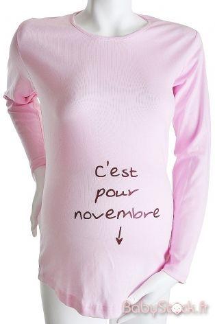 T-Shirt manches courtes 'c'est pour Novembre'
