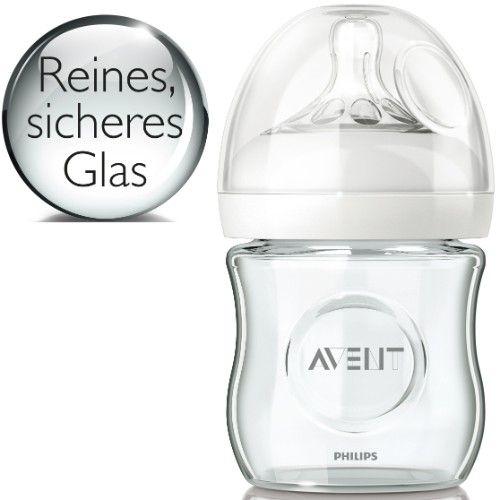 Biberon col large Natural verre 120 mL AVENT-PHILIPS