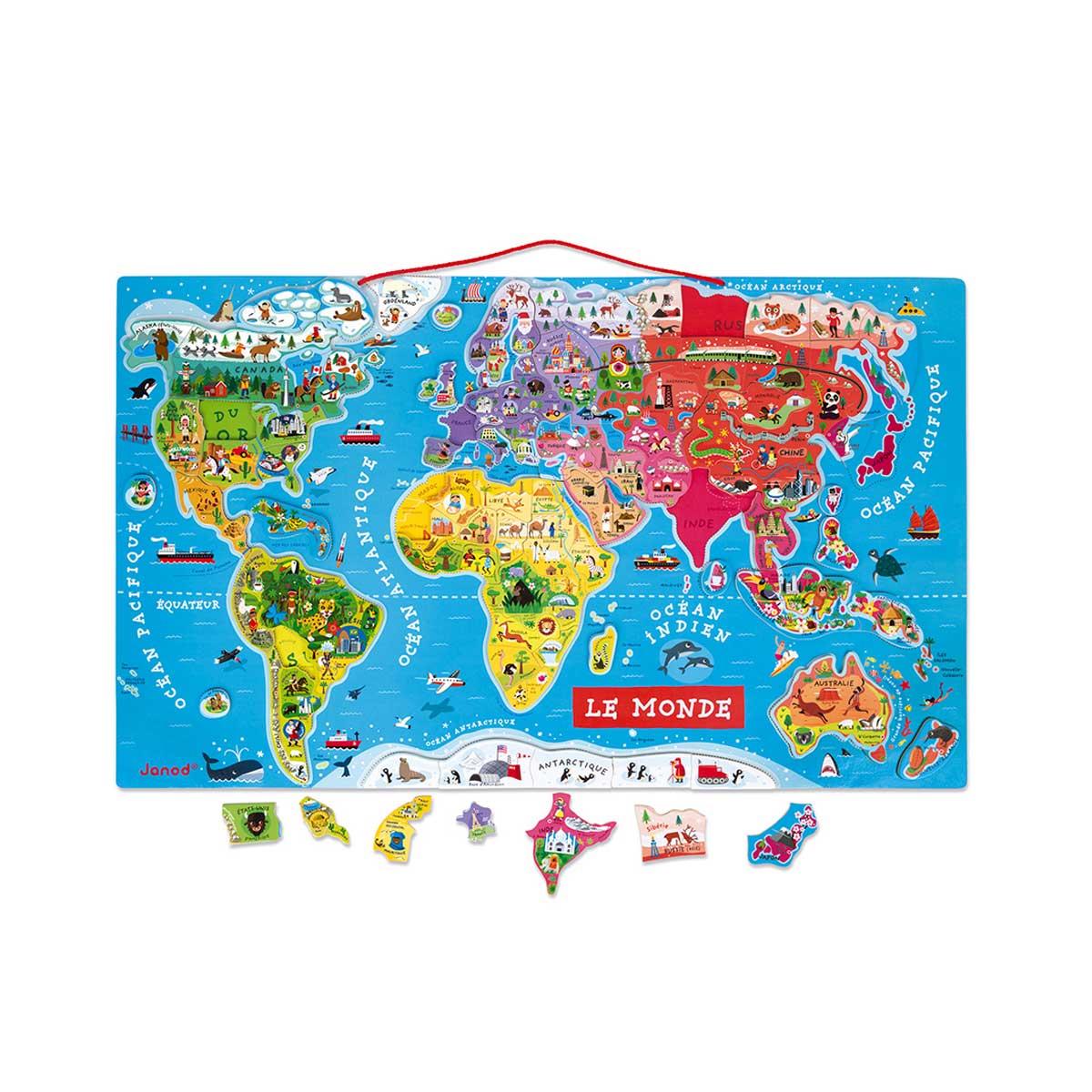 Carte du monde magnétique
