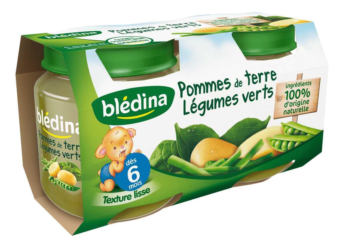 Pot Pommes de terre Légumes verts 2x130g