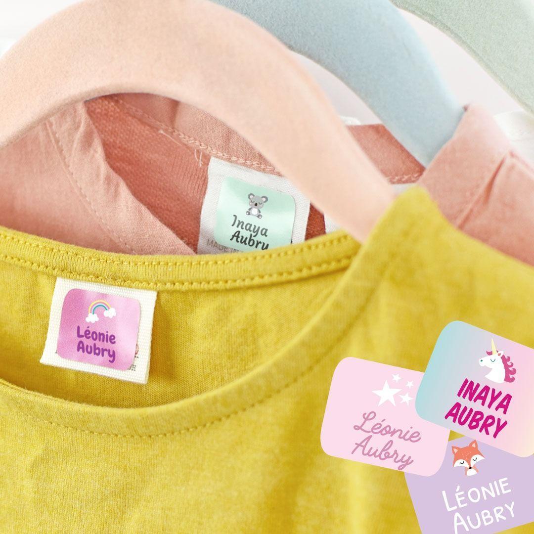 Etiquette autocollante personnalisée pour vêtements