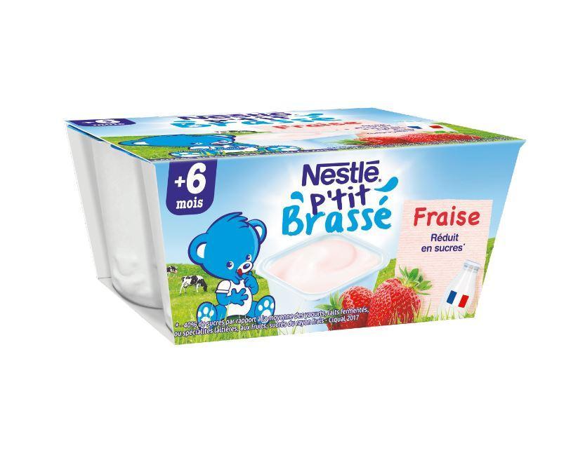 P'tit Brassé Fraise (4x100g) NESTLÉ