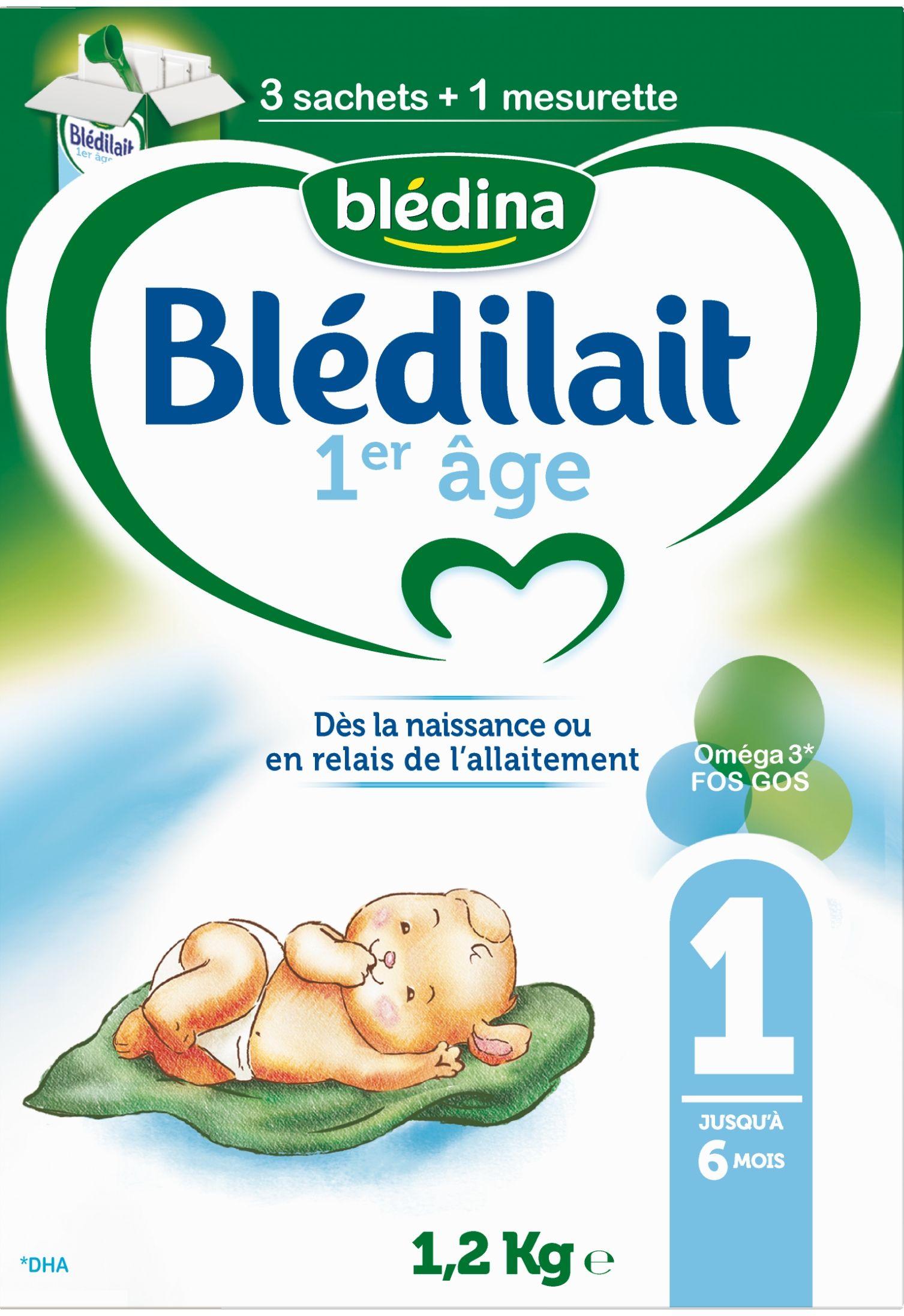 Lait Blédilait 1er âge Bag in box