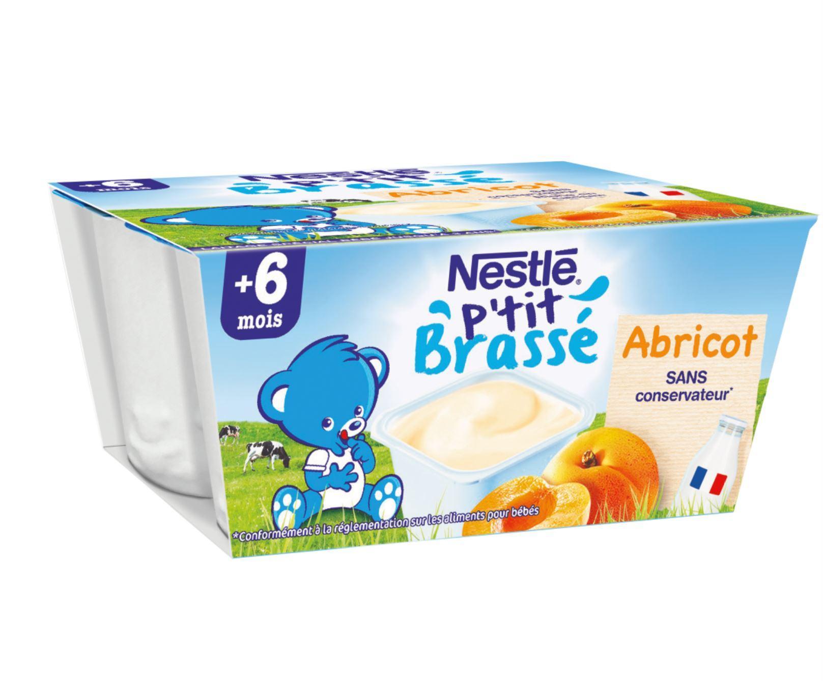 P'tit Brassé Abricot (4x100g) NESTLÉ
