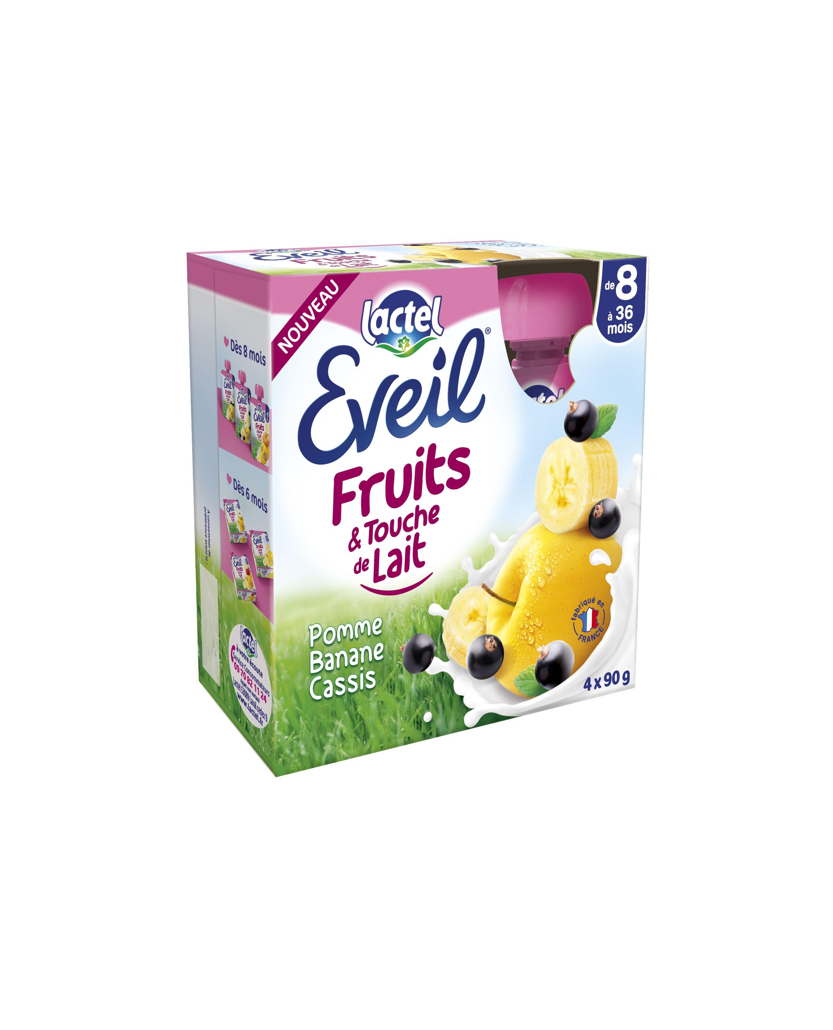 Gourdes Eveil Fruits et Touche de Lait – Pomme-Banane-Cassis