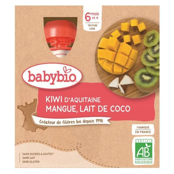 Petits pots Mes Fruits Gourdes Kiwi Mangue Lait de Coco