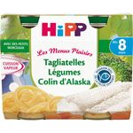 Tagliatelles Légumes Colin d'Alaska- 2 pots x 190g - 8 mois HIPP