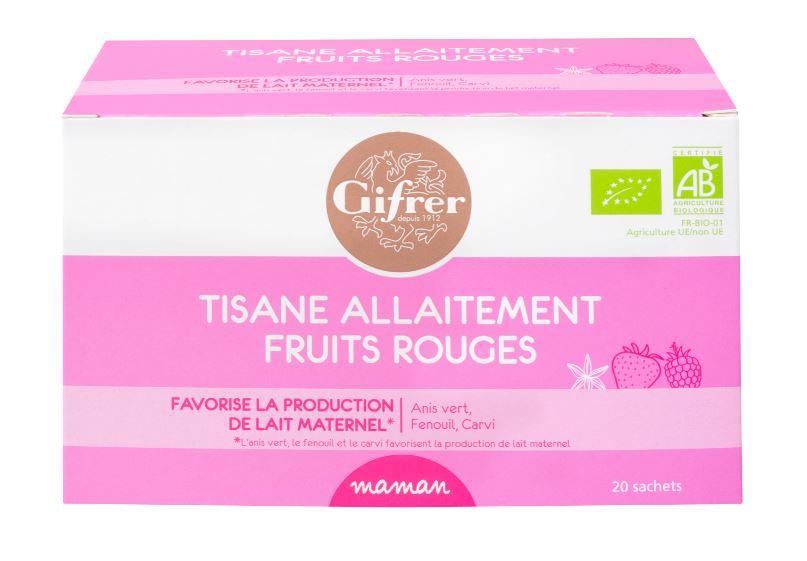 Tisane allaitement fruits rouges BIO
