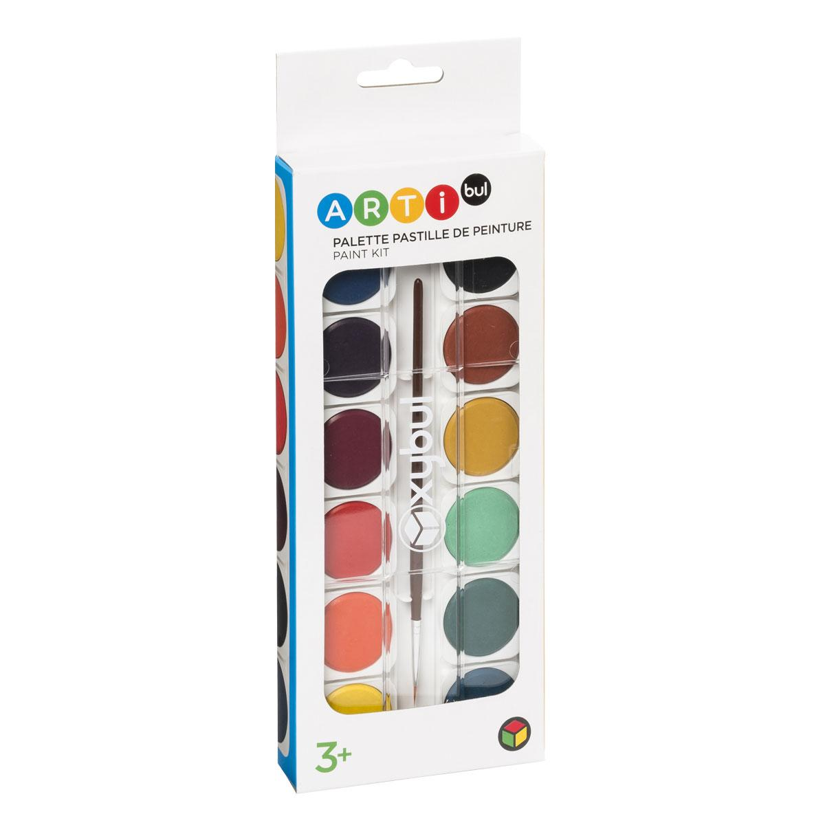 Palette pastilles de peinture