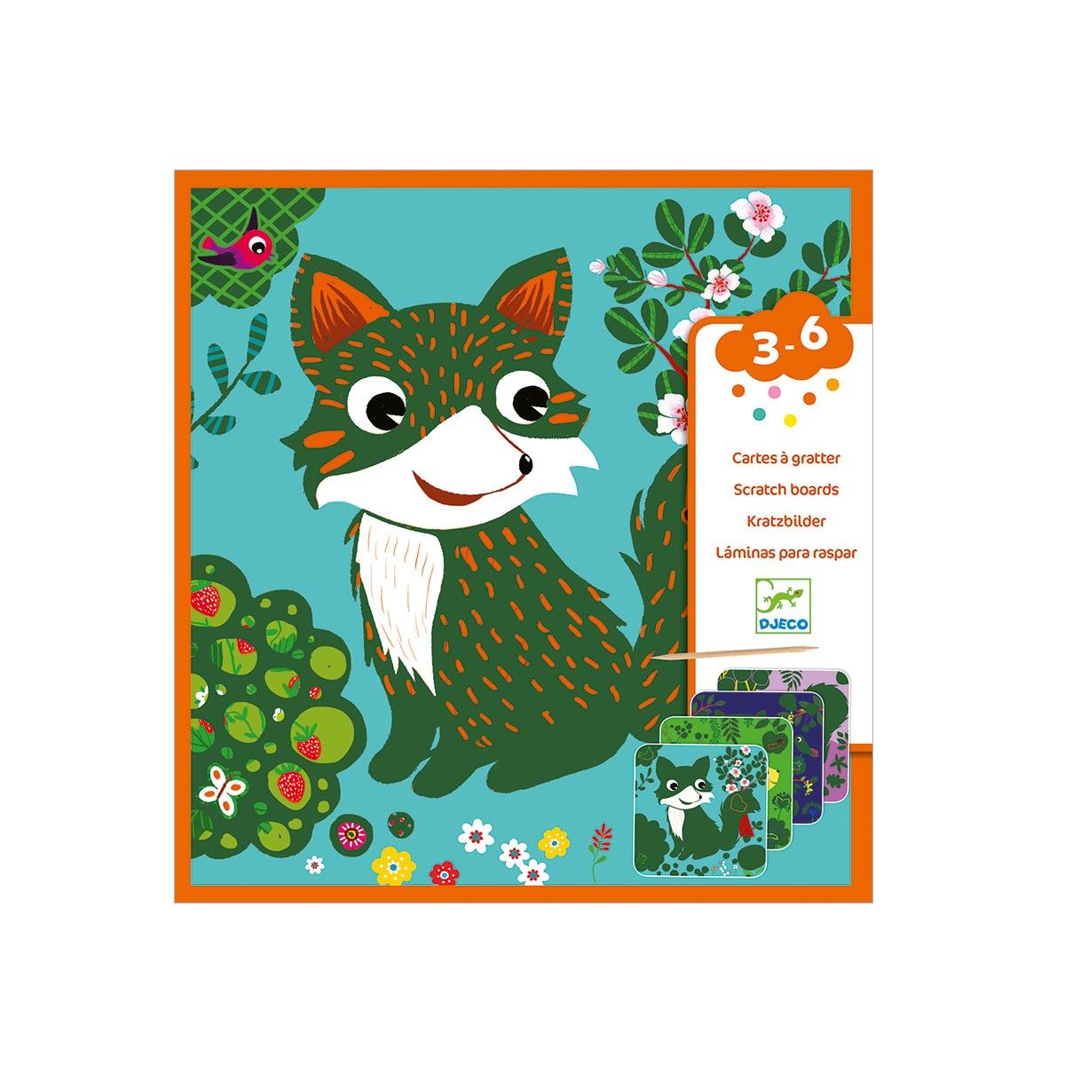 Cartes à gratter Petites bêtes