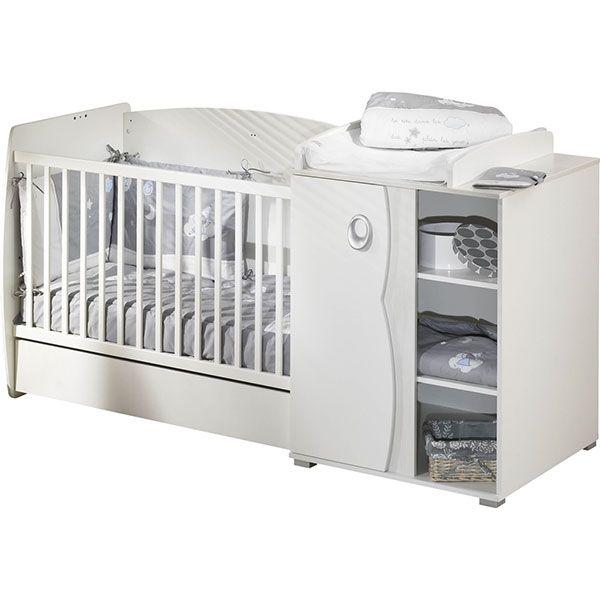 Lit bébé chambre transformable 60 x 120 Nevada