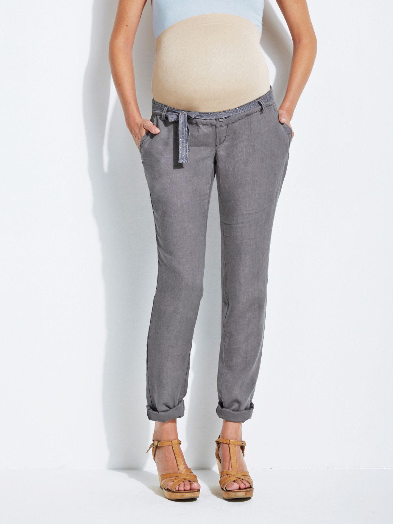 Pantalon en lin de grossesse Colline VERTBAUDET