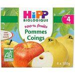 Pommes Coings 100% fruits - 4 coupelles x 100g - 4 mois