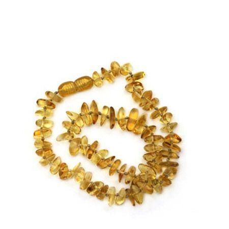 Collier d'ambre jaune