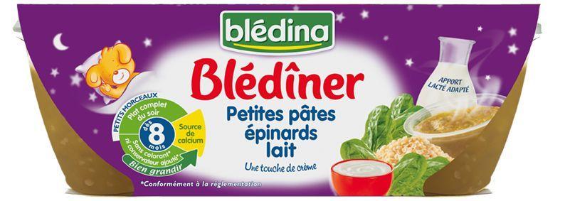 Blédîner - Petites pâtes, épinards et lait (dès 8 mois)