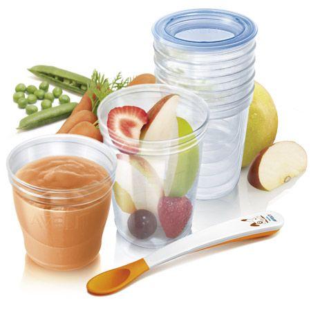 Kit pots de conservation aliments AVENT-PHILIPS