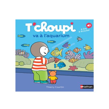 Livre T'choupi va à l'aquarium NATHAN 1