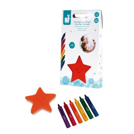 6 crayons de bain et éponge JANOD 1
