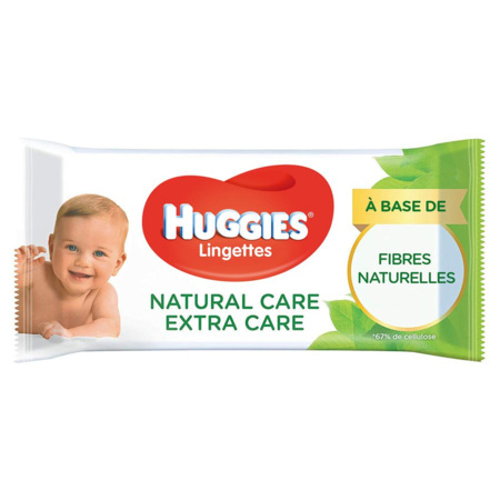 Lingettes Natural Care Extra Care 1