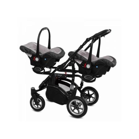 Poussette Trio Twinni Premium + 2 nacelles + 2 sièges auto Silver 4