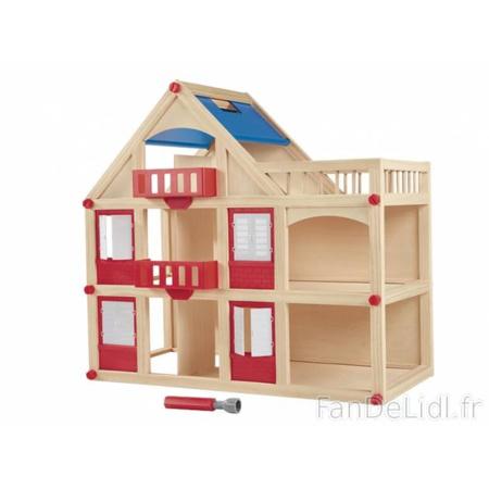Maison de poupée en bois Playtive LIDL 1