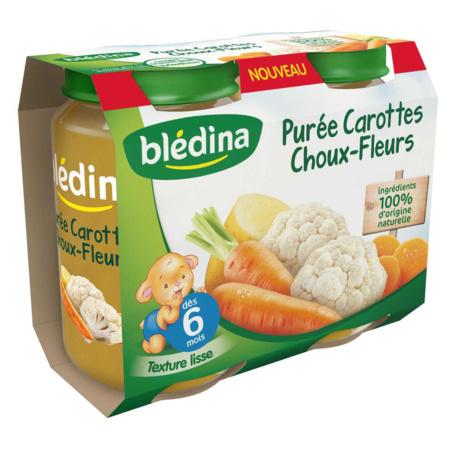 Pot Purée Carottes Choux-fleurs 2x200g BLEDINA 1