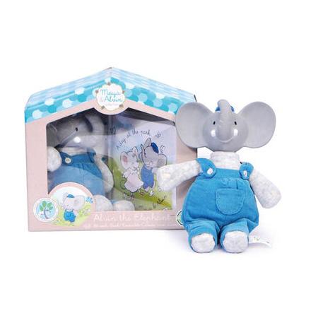Doudou Alvin l'éléphant et son livre MEIYA ET ALVIN 1