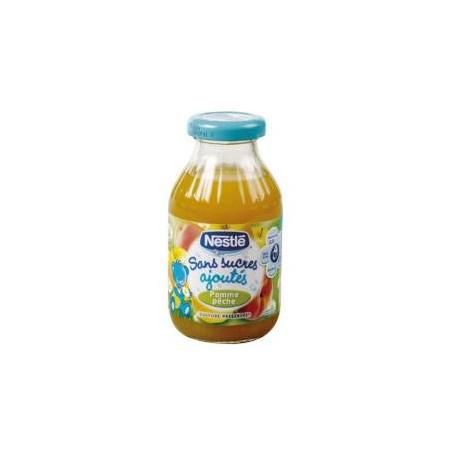 Jus de fruits pomme pêche sans sucres ajoutés 20 cl 1