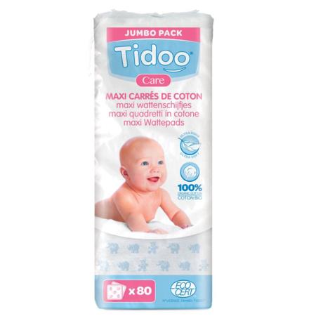 Maxi Carrés bébés en coton bio (x80) 1