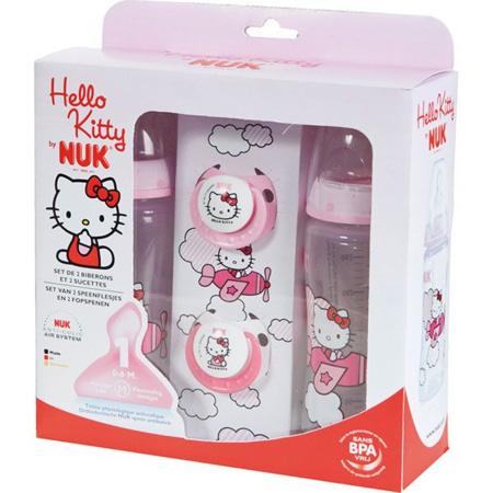 Coffret biberons sans bpa et sucettes Hello Kitty 1