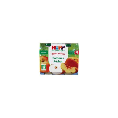 Pommes Pêches 190 g dès 4 mois HIPP 1