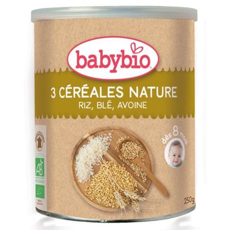 Trois céréales nature BABYBIO 1