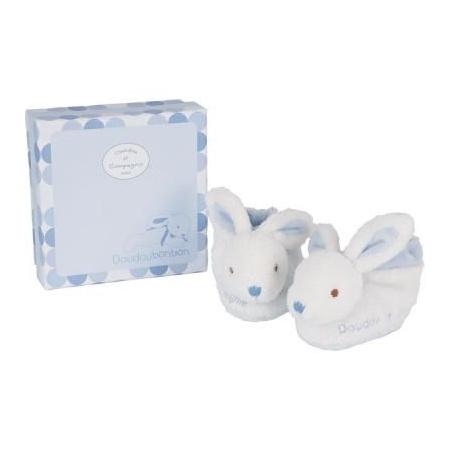 Coffret chaussons bébé lapin bonbon DOUDOU ET COMPAGNIE 1