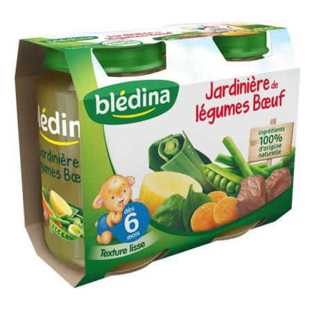 Pot Jardinière de légumes Bœuf 2x200g BLEDINA 1