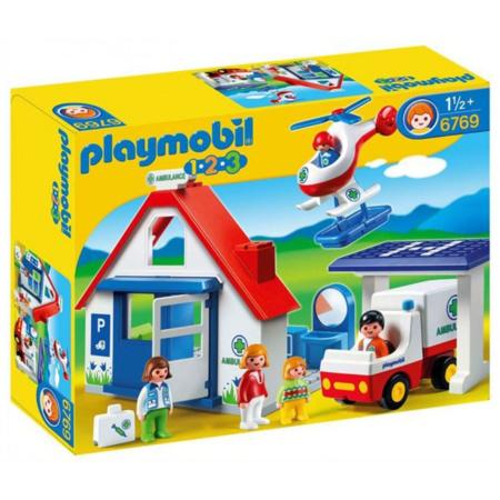 Playmobil 1.2.3 - Coffret hôpital PLAYMOBIL 1