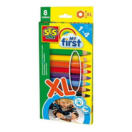 Crayons de couleurs My First SES 1