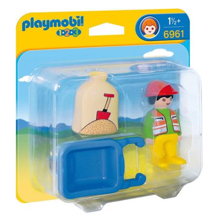 Playmobil 1.2.3 - Ouvrier avec brouette PLAYMOBIL 1