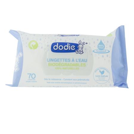 Lingettes à l'eau biodégradables DODIE 1