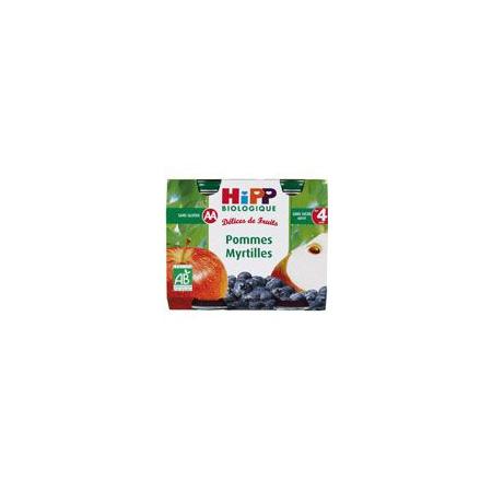 Pommes Myrtilles 190g dès 4 mois HIPP 1